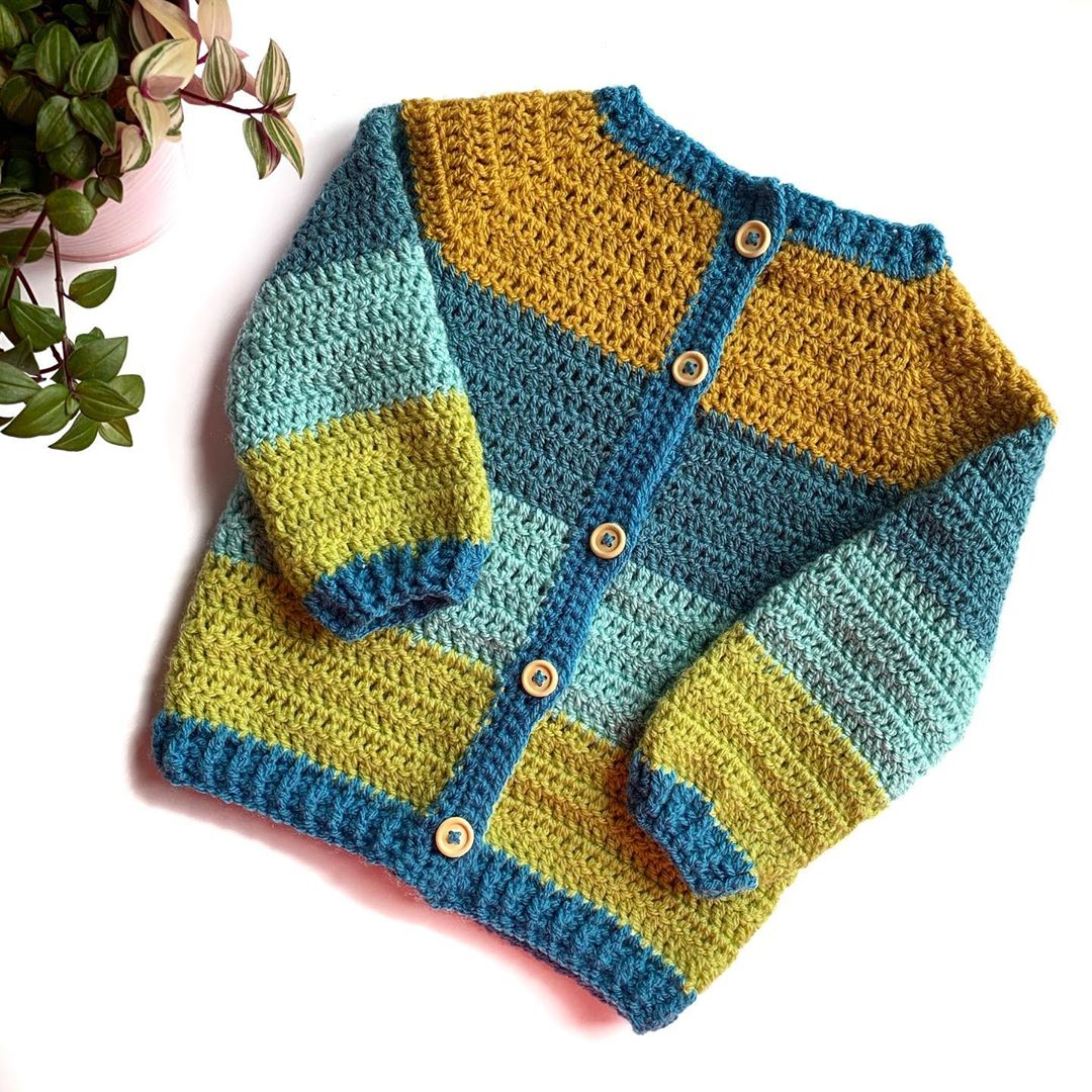 For A Little Blue Eyed Boy 💙... . . . T Crochet - Crochet Cardigan
