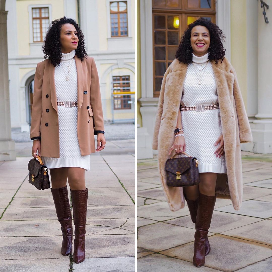 White Knit = Same Same, But Different 🤍 Teddycoat - Knit Dress