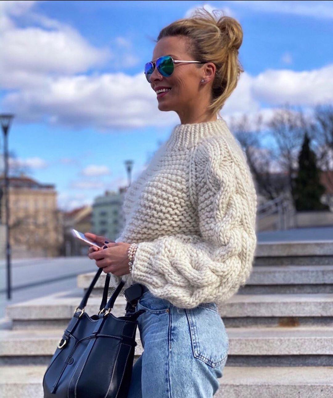Chunky White Knit From La Stella Knitwe - Chunky Knit