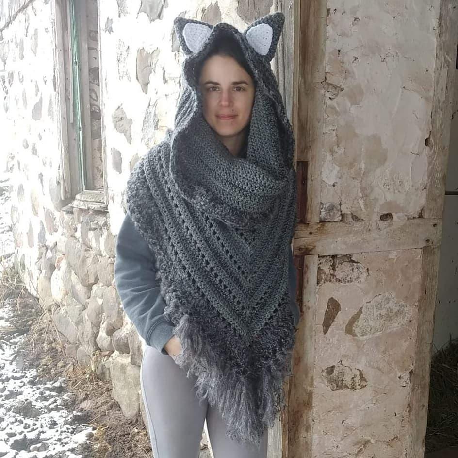 Are You Afraid Of The Big. Bad. Wolf🐺💗 Crochetpattern - Crochet Scarf