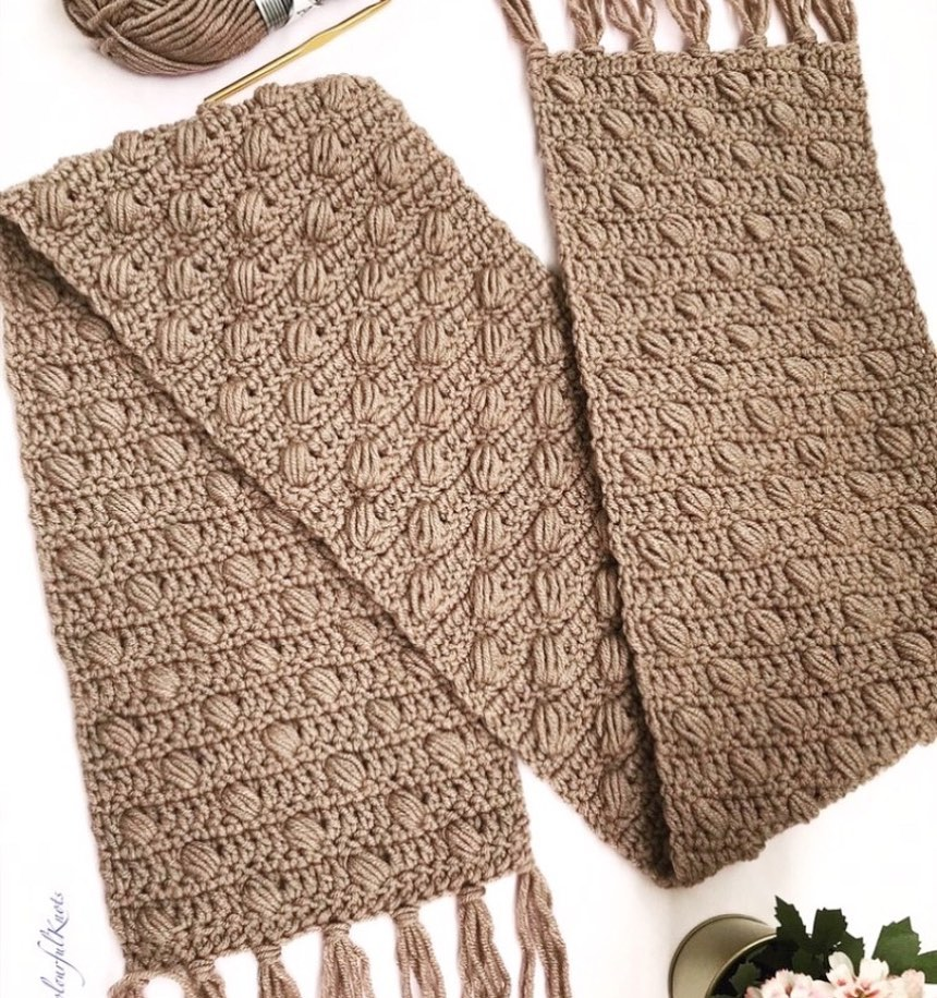 Dots Of Love Scarf Pattern Is Live Om E Anyutadesigns - Crochet Scarf