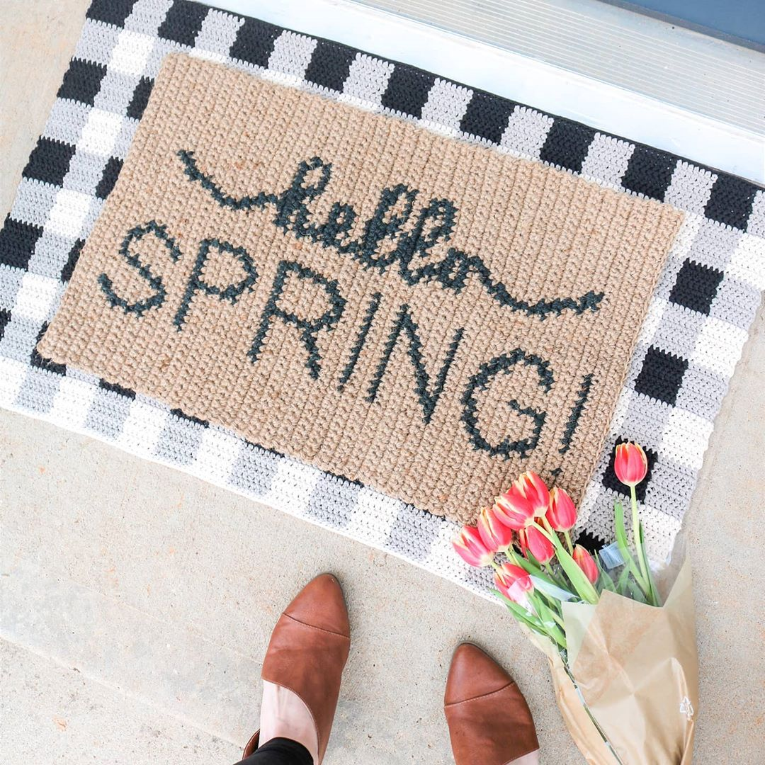 Happy Pattern Release Day & First Day Of Spring - Crochet Rug
