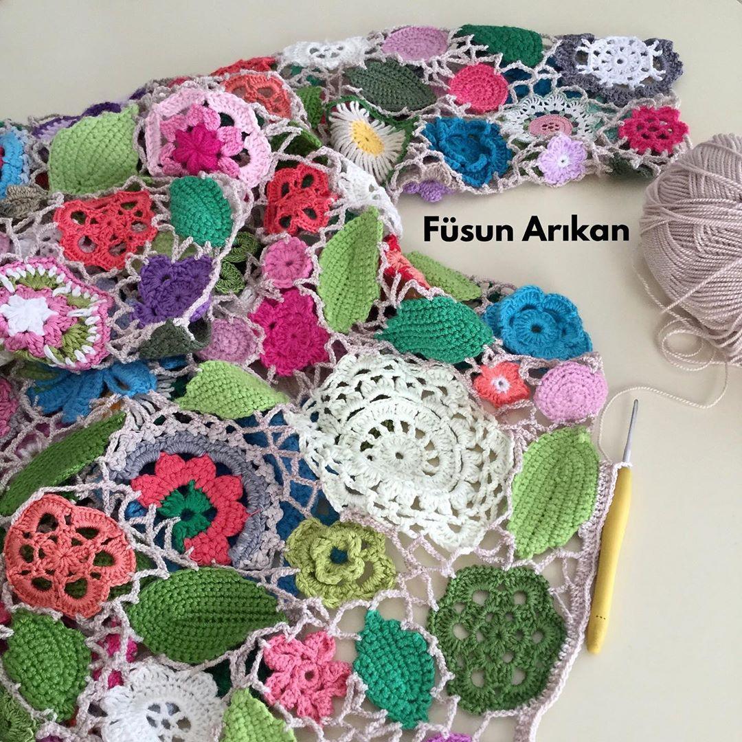 Günaydın. 🙋 Rengarenk Birşeylerle Uğraş Crochetcrazy - Crochet Cardigan