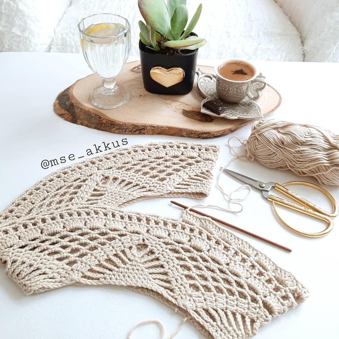 Evdekaltürkiye Gün Ortası Hobisel Faal Cardigan - Crochet Cardigan
