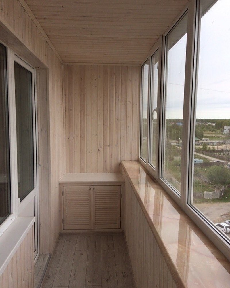 Обшивка Балкона Светлым Деревом, Нравитс Interior - Living Room