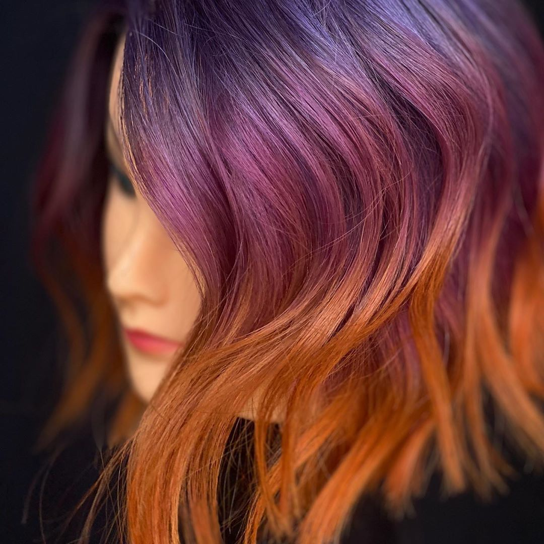 💜🖤🧡Muted Sunset🧡🖤💜 This Quarantine Loxxbylyss - Hair Beauty