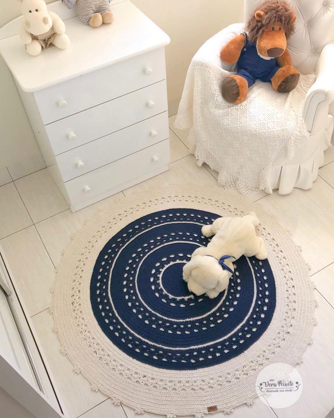 Tapete De Crochê, Uma Peça Feita À Mão E - Crochet Rug