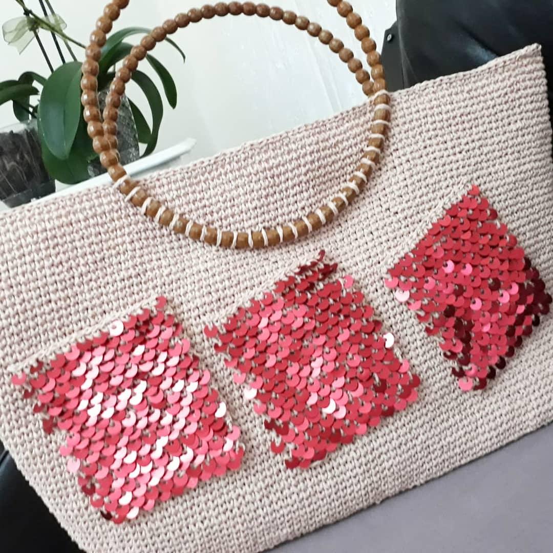 Bizim Öğrenciler Evden De Üretmeye Deva Knit - Crochet Bag