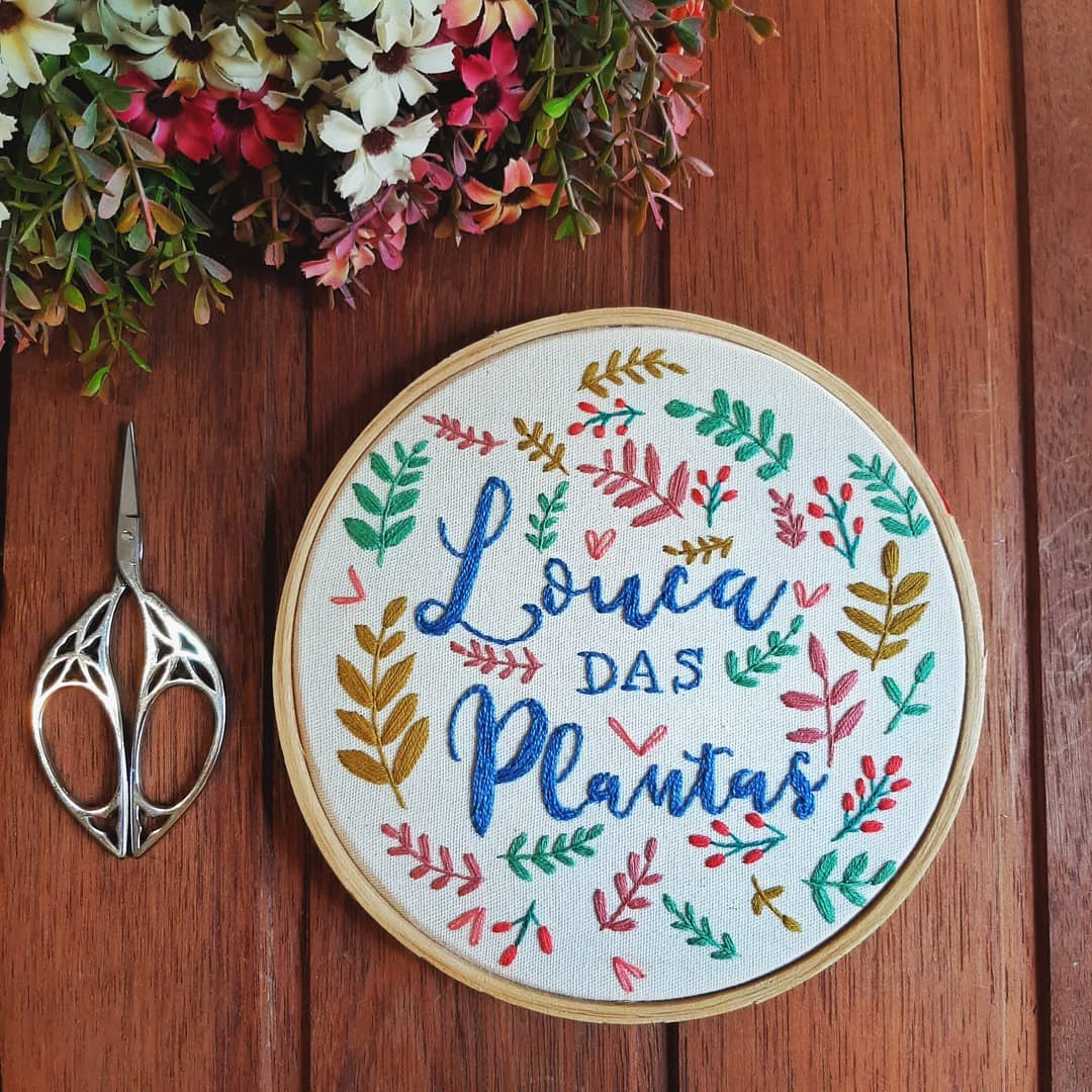 Nessa Quarentena Você Não Precisa Se Cob Embroideryart - Crafts