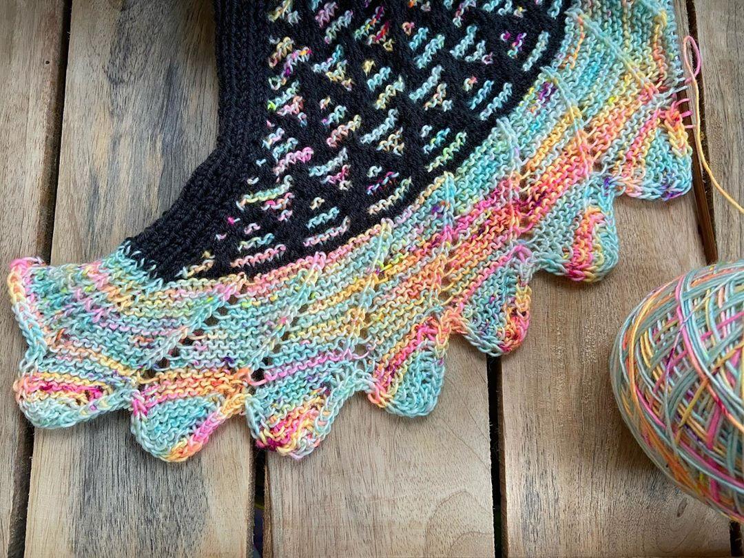 Der Kunkelkal Geht In Die Letzte Runde. Mosaicmusings - Shawl Knitting