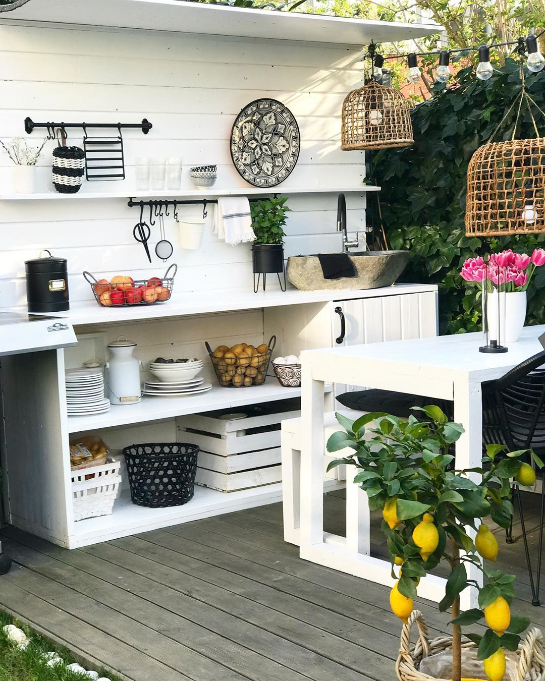 🖤Outdoor Kitchen🖤 . . Werbung . . Seit Outdoor - Garden Decor