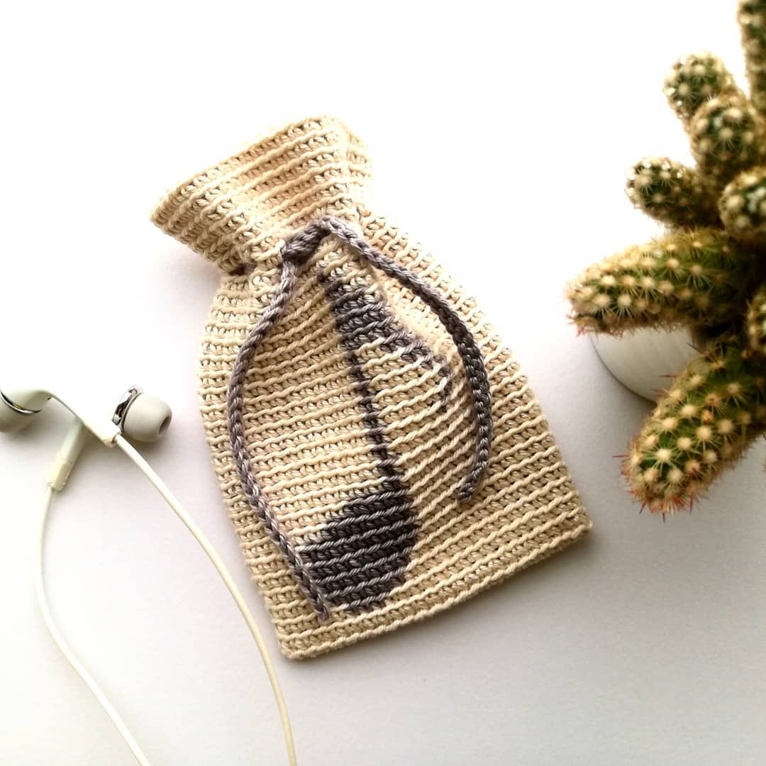 I Made This Music Note Bag For My Headph Crochetgram - Crochet Bag