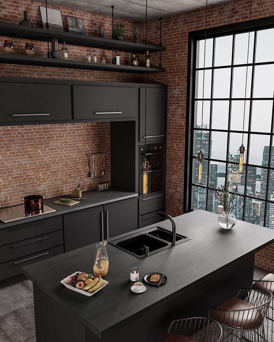 Industrial Kitchen Style By Caroline Ki Kitchen - Room Decor