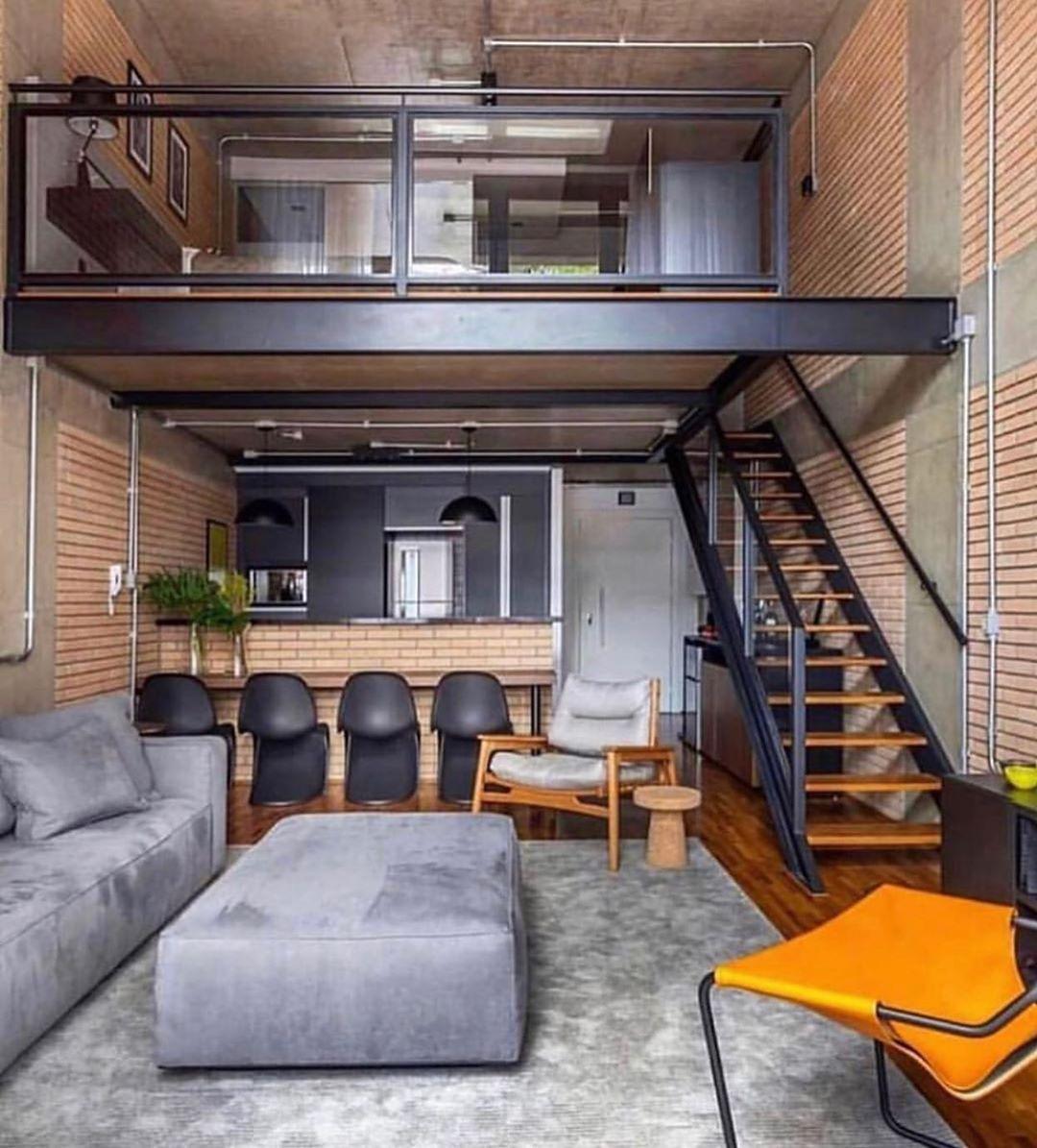 Os Lofts Sempre Ganham Meu Coração! 🖤🖤 - Architecture