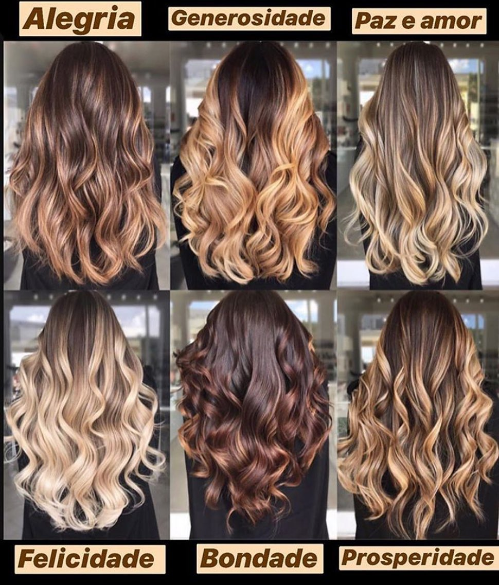 Qual O Seu Favorito? Marque Sua Amiga P Balayage - Hair Styles