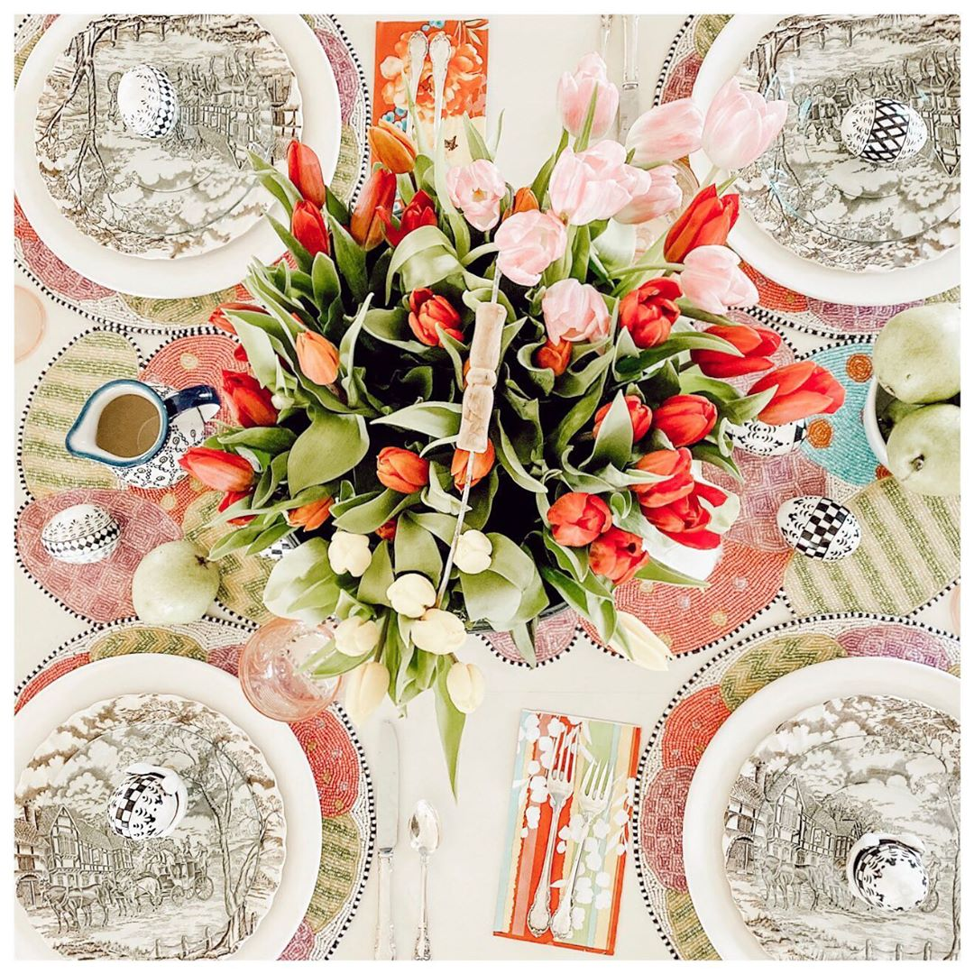 Easter Table Setting🌷🐣🐰 . . I Hope Yo Transferware - Home Accents