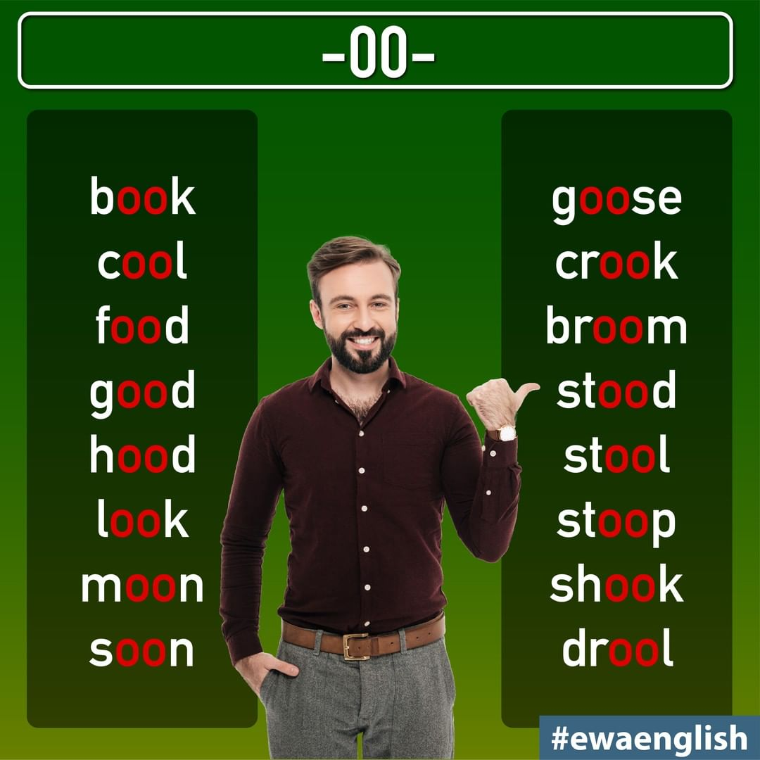 Do You Know Any More Words With -Oo-? Wr Dicasdeingles - Education