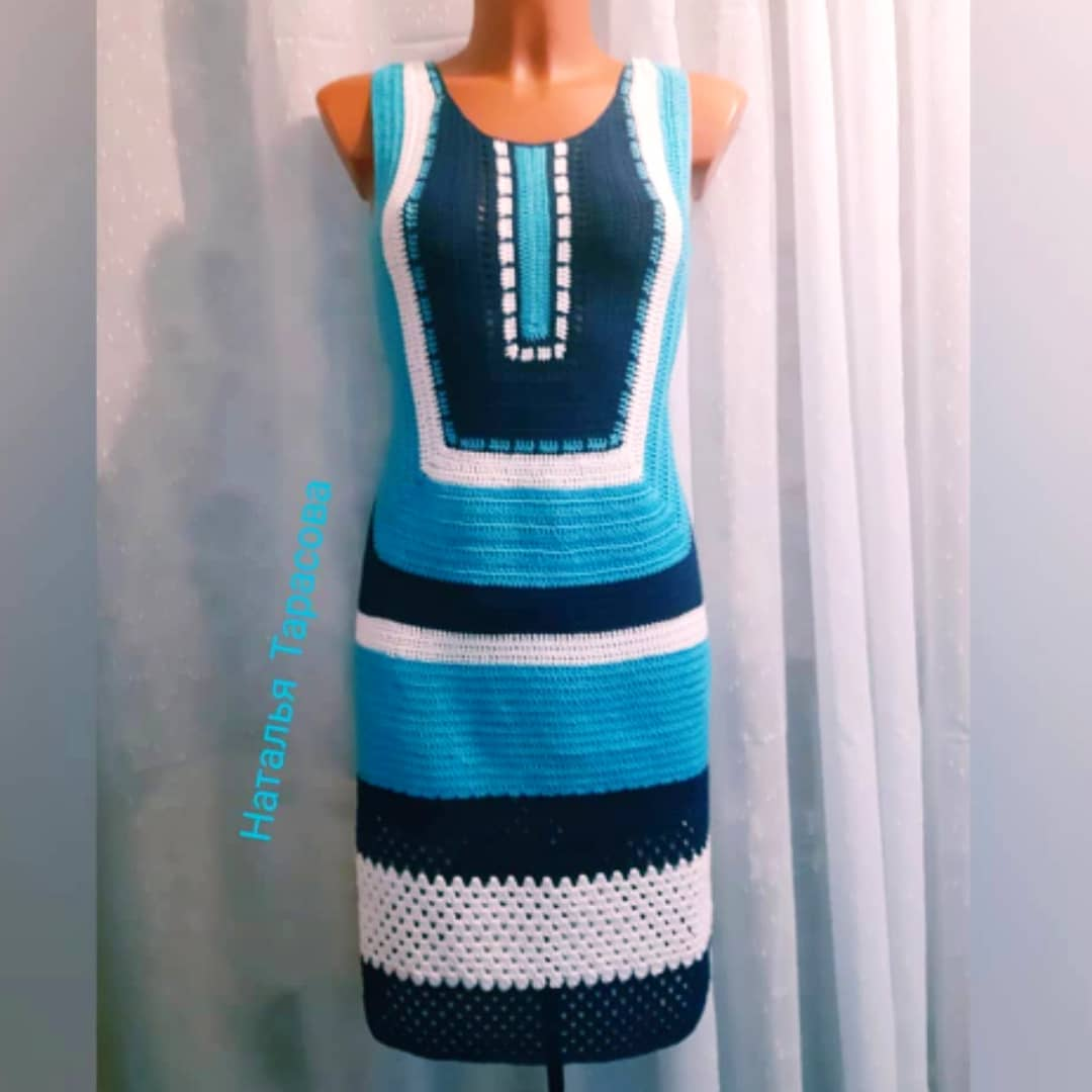 Платье Геометрия Крючком.🦋 Из Хлопка🦋 Платьемиссоникрючком - Knit Dress