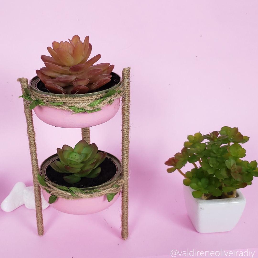 🏺Vasinho Para Suculenta Reutilização De Vasosdecorados - Diy Crafts