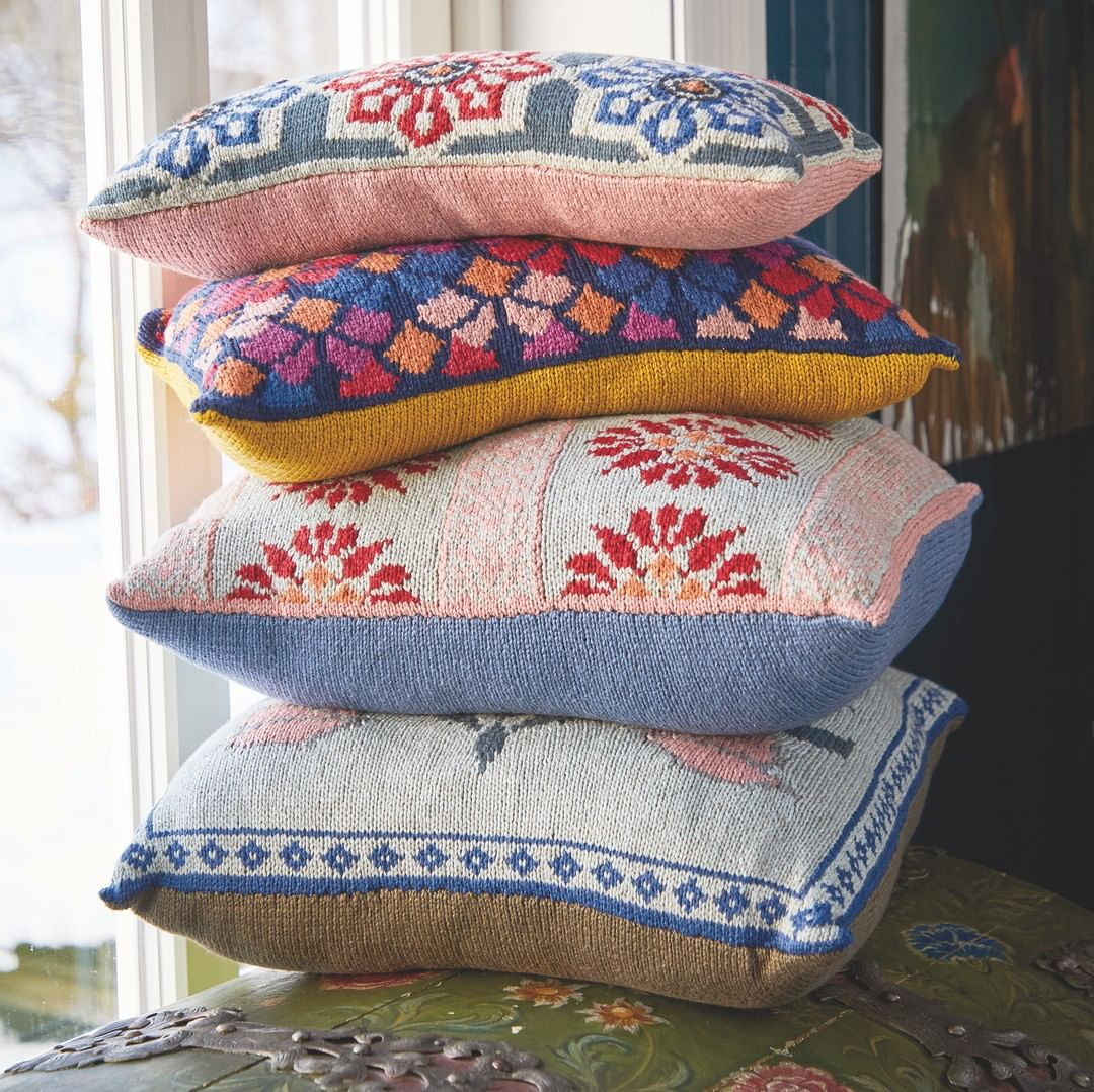 A New Series Of Cushions Designed By Us - Knitting