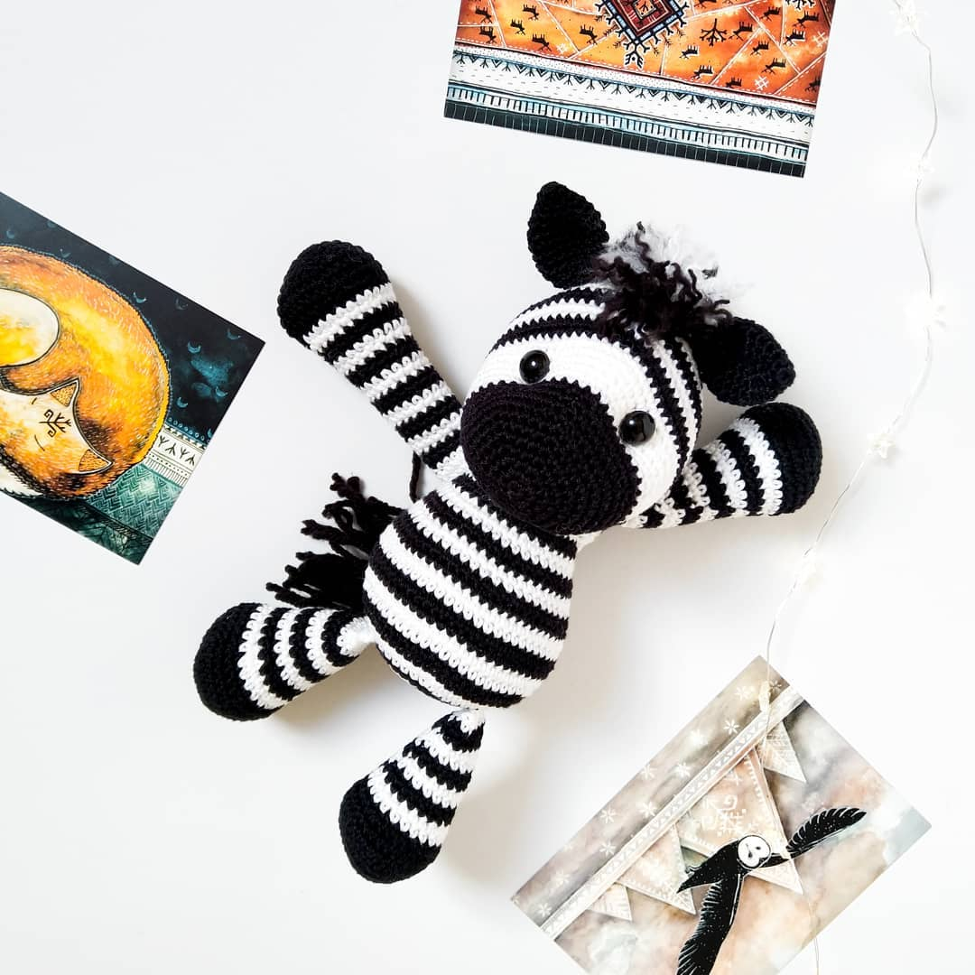 Look Who Is Here! Came From Savannah 🦓🌿 Babyzebra - Baby Crochet