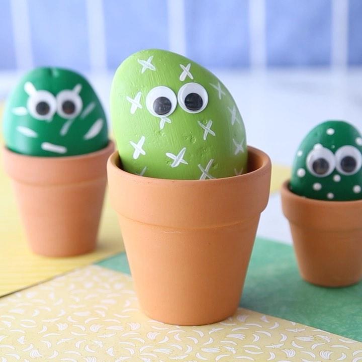 Cactus Pet Rocks 🌵- A Fun Summer Activi Learningthroughplay - Kids Crafts