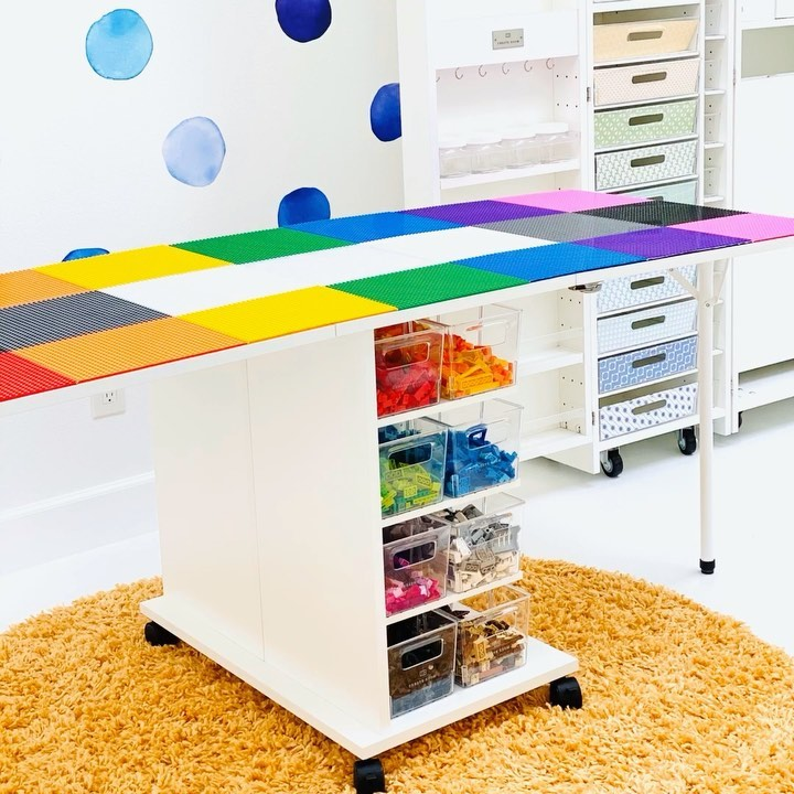 Just Created This Epic Lego Table For My Craftroomorganization - Kids Crafts