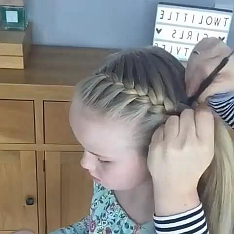 The French Crown Braid tutorial 👸 👑  #peinadosvideos #imakevideos #hairvideos #hairvideoshow #hairstyles #hair #hairart #hairbra