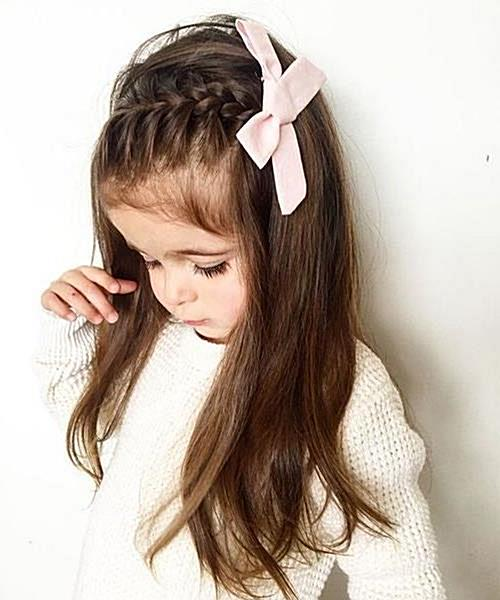 Lovely and Pretty Long Hairstyles for Little Girls. #hair #hairstyles #hairstylesforshorthair  #girlshair #girlshairstyles  #short