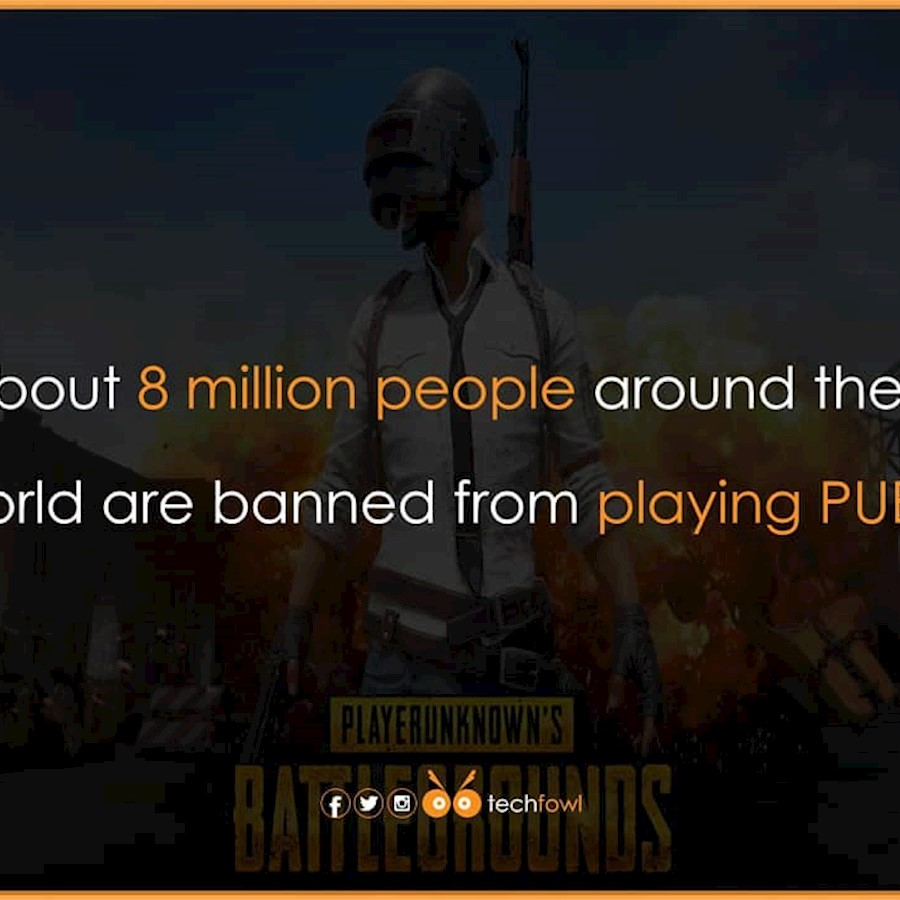 Follow @techfowl For more post like this.#pubg #8 #million #ban #account #tech #play #user #game #techy #didyouknow #fact #techfac