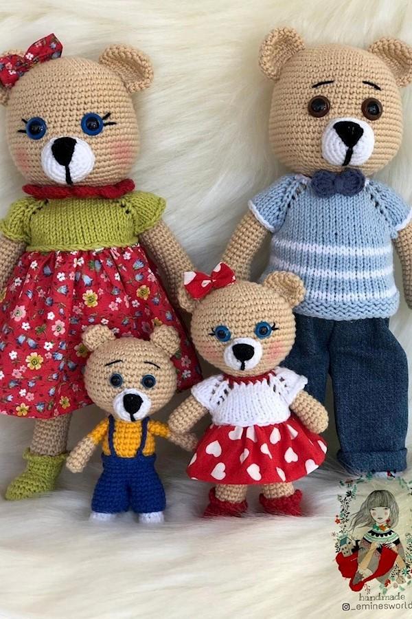#iyiakşamlar ..Amour ailesi toplu olarak bir poz vermek istedi 🥰🥰🥰@_eminesworld_  den sevgilerle 💕💕💕#organikoyuncak #knittin