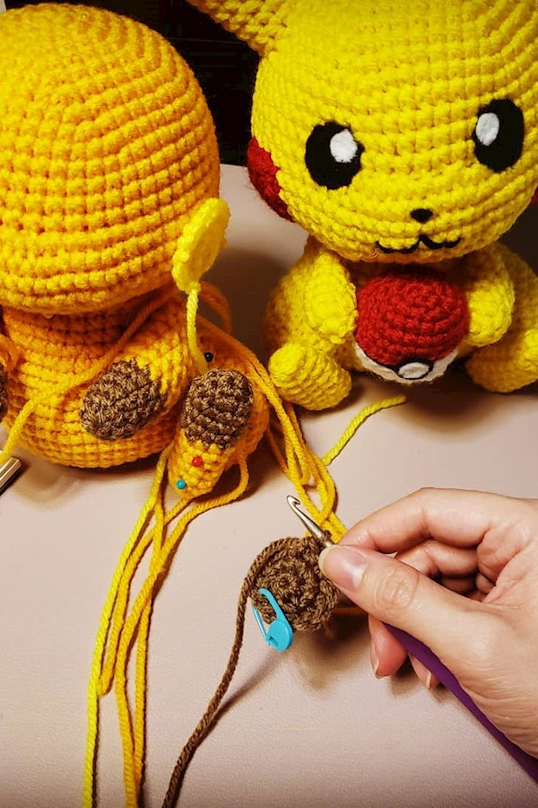 AmiguruMAY Day 15/31: Hands at WorkCurrently working on designing a new pattern for Raichu! It's going to be structured similarly