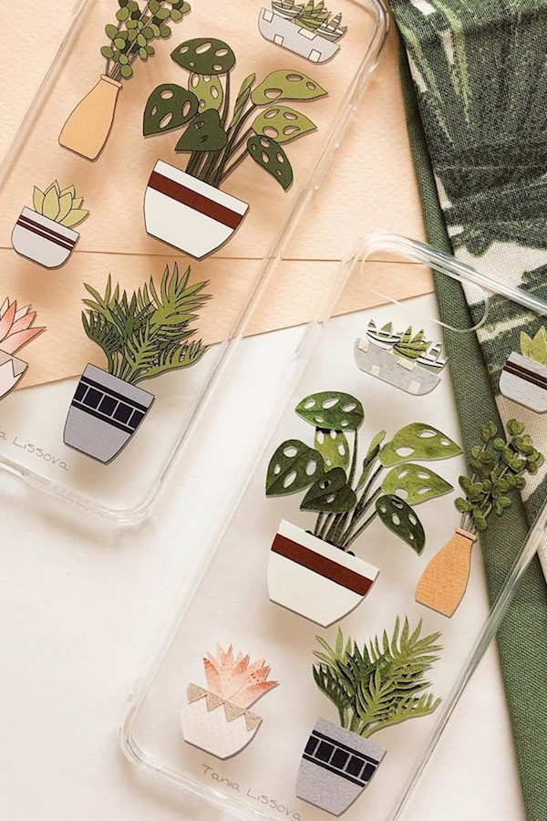 I received samples for iPhone cases of my paper plants and illustrations, and I can't wait to get your opinion!💛-Anyone who would