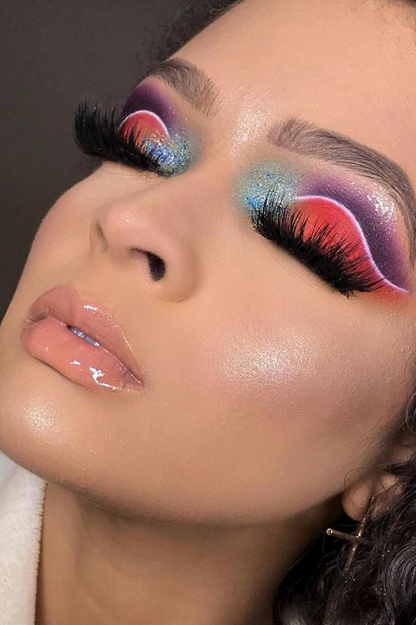 Aula de hoje - Maquiagem COLORIDA 💛🧡💚💜 Curso Profissional Iniciante TURMA da Tarde 🌤#make #makeup #makeuptutorial #makeuparti