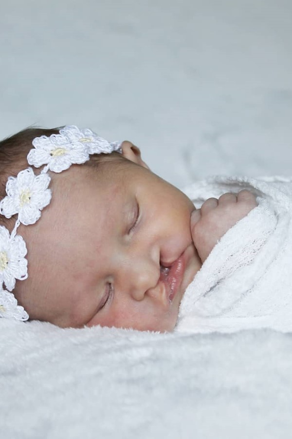 My sweet Max is 1 week old today! 🌼 #cleftcutie #cleftstrongCrochet pattern: Flower Child Headband (available in my Ravelry store