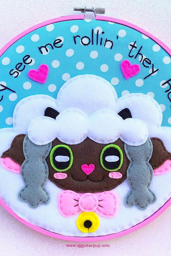 🐑💕 Update: this hoop has sold!!! 🐑💕I will be listing this super-sized Wooloo embroidery (it's 9 inches in diameter) this eveni