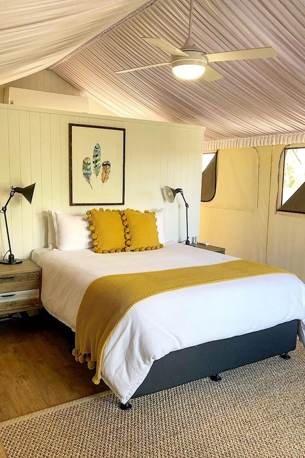 We recently stayed at Sirromet Winery in their  beautiful newish Glamping tents located in the Sanctuary only 35 to 40 minutes eas