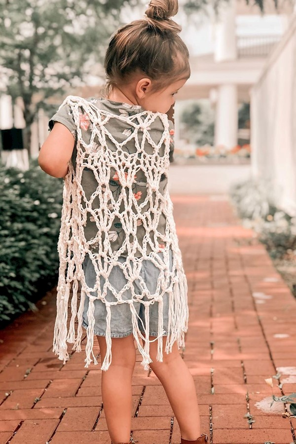 The child and teen size drifter vest pattern is officially live!You can get this crochet pattern for $3.50 this week only then it