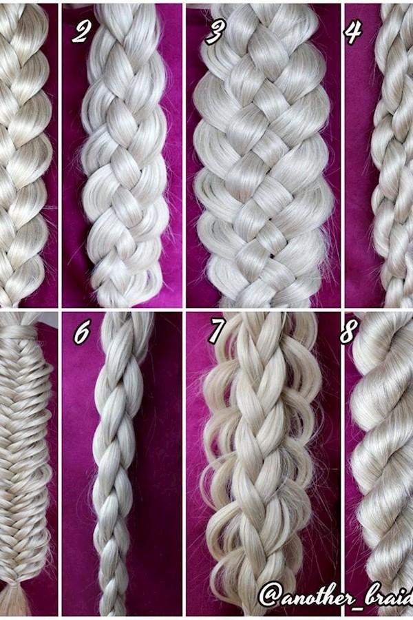Which is your favorite braid, 1-8? 🧐Credit @another_braid#hairtransformation #hairgoals #makeuplook#hairstyle #hairtutorial #wedd
