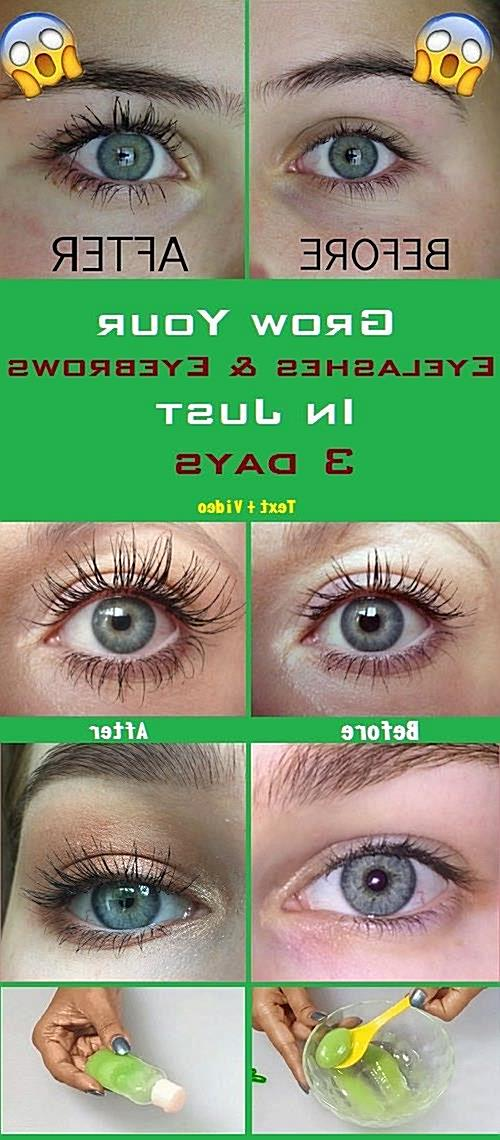 Grow your eyelashes & eyebrows in just 3 days ! Eyelash And Eyebrow serum(VIDEO) - Herbal Remedy