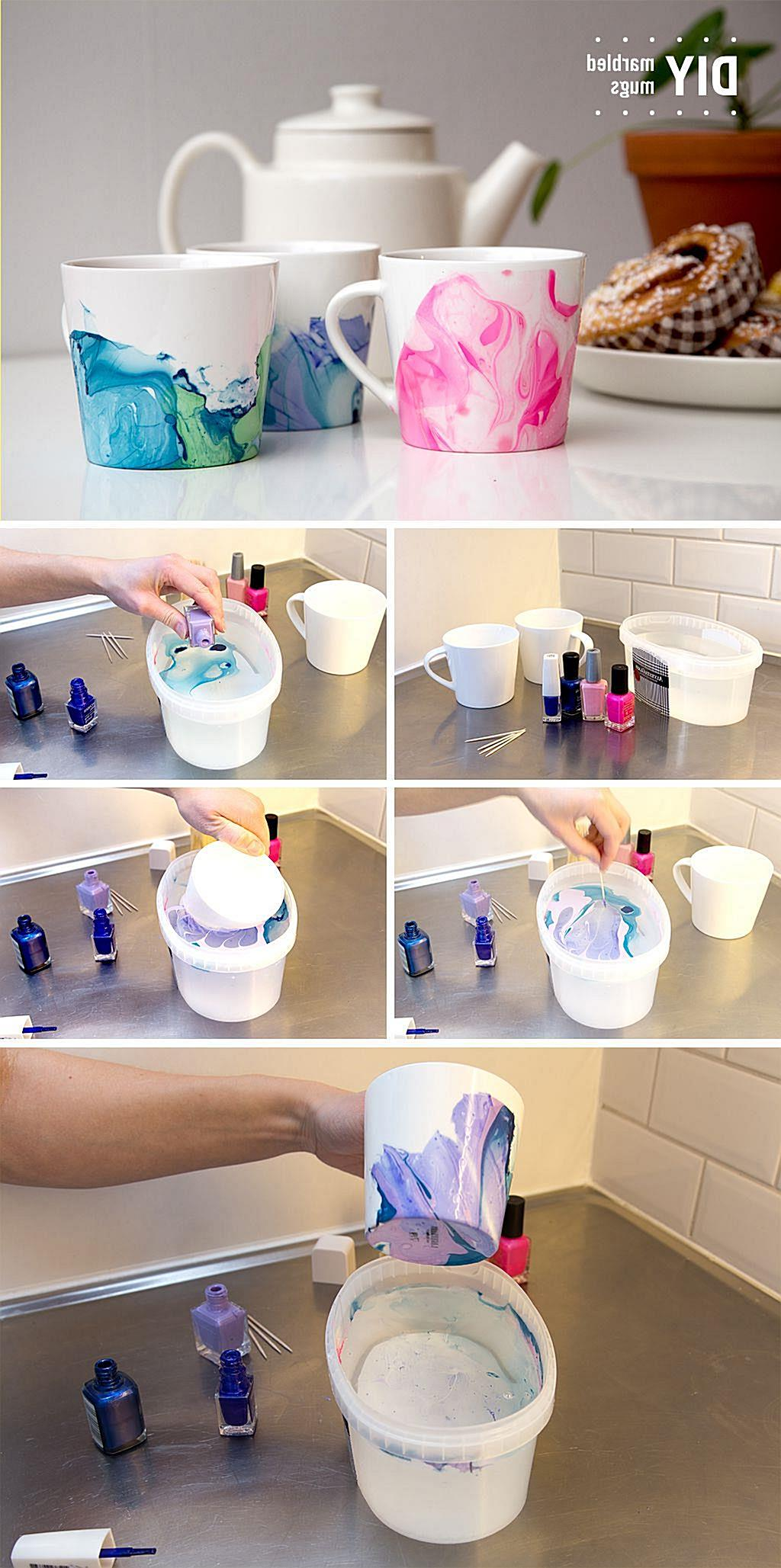 These Nail Polish Swirl Coffee Mugs are so easy to make and they look great. You will adore the stunning effects that you are goin