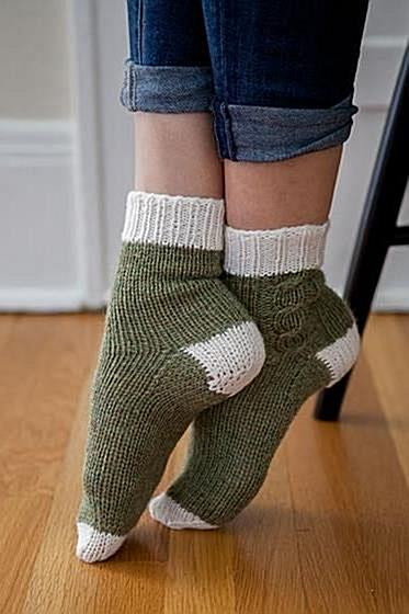 Lazy Weekend Socks - Knitting Patterns and Crochet Patterns from KnitPicks.com