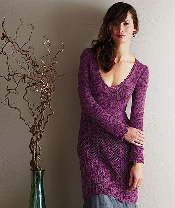 """Knitting - Free Pattern: """"Ladies Lace Pullover"""" - Level: intermediate....I love this shirt!!!!"""