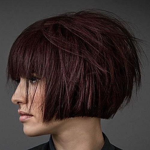 Textured Short Bob with Bangs - Top Modern Bob Hairstyles