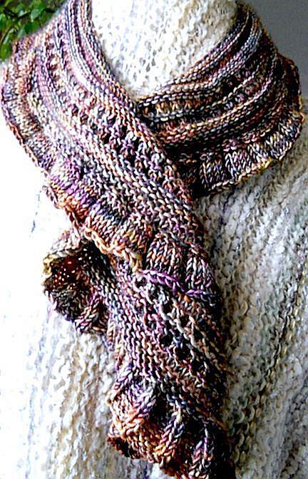 28 Row Scarf By Lynne Ashton - Free Knitting Pattern - (ravelry)