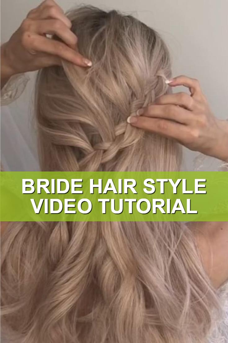 Bride Hair Style Video Tutorial