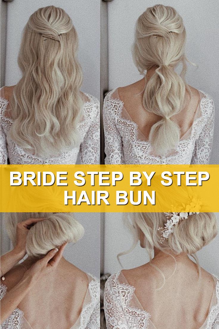 Bride Step By Step Hair Bun