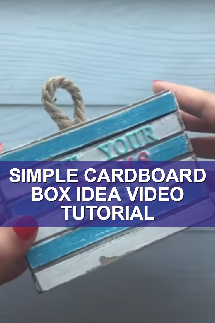 Simple Cardboard Box Idea Video Tutorial